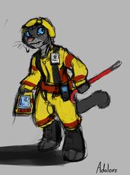 Commission - Kaedwuff - Spess Cat Engie