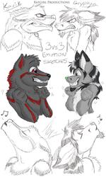 3 VS 3 Emotions Kavik VS Gryphon