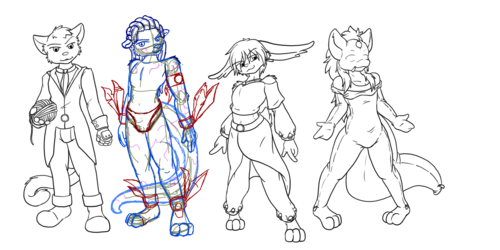 NQ Cast Sketching