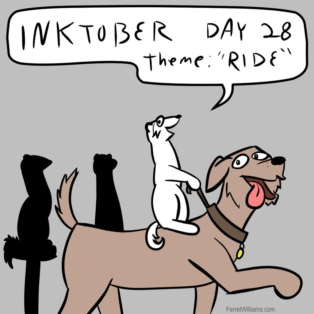"Inktober Day 28: ""Ride"""