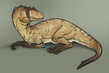 Sketch - Allosaurus