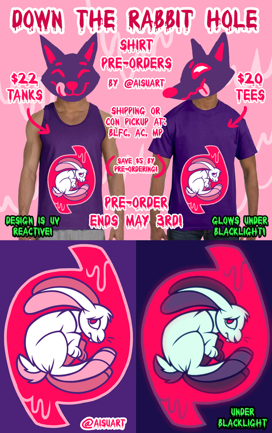 DOWN THE RABBIT HOLE SHIRT PREORDERS
