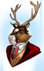 Django Reindeer portrait [C]