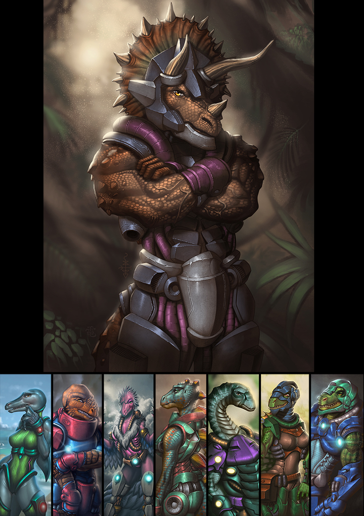Most recent image: Dinosaucers Series - Tricero [Repost]