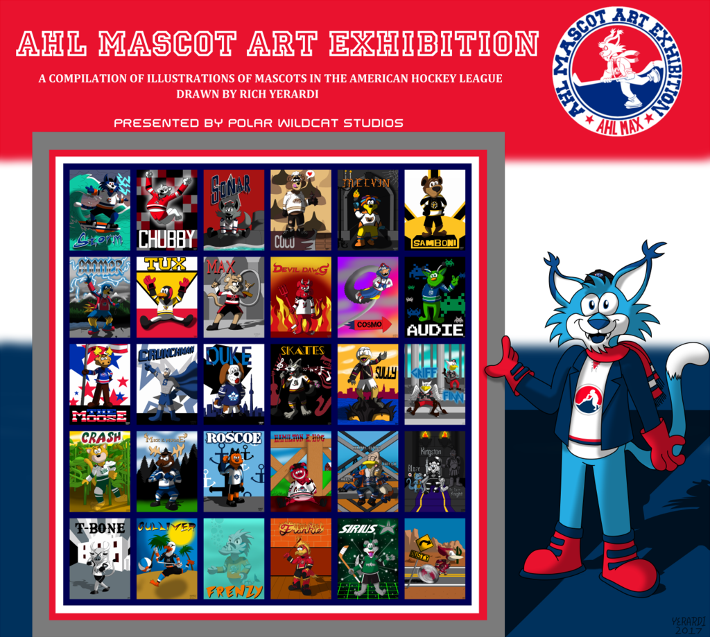 AHL MAX Mascot Collage