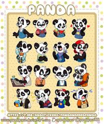 Panda telegram stickers