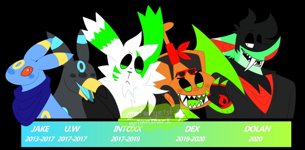 evolution of my pokesonas