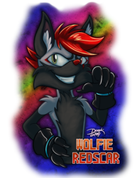 TFF - Wolfie Redscar Badge