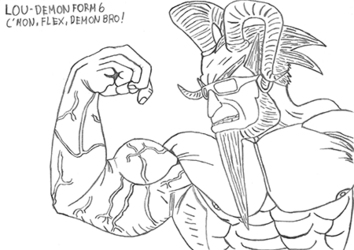 [Bara] Lou - Demon Form 6 (Flex, Demon Bro! - Revisited)