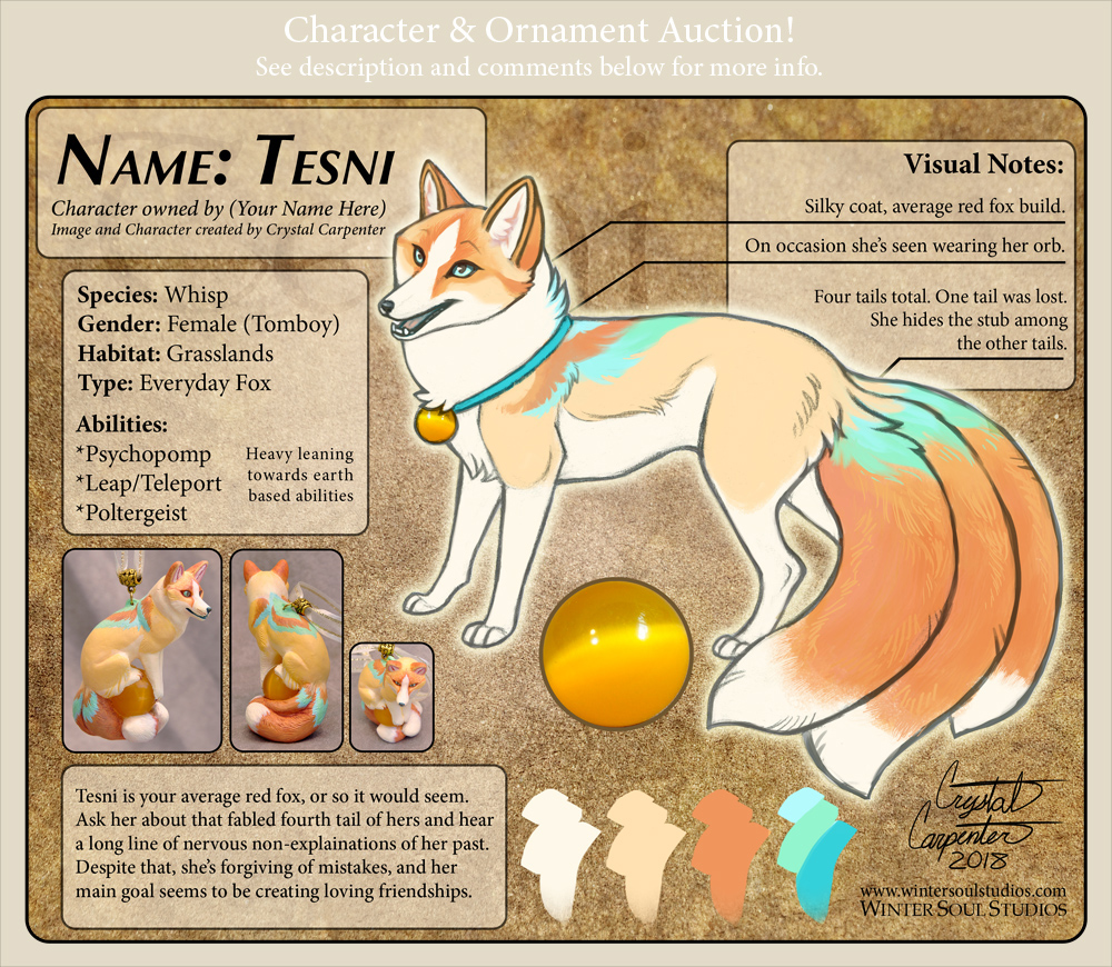 Tesni Character Auction