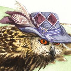 Strange Eagle Owl
