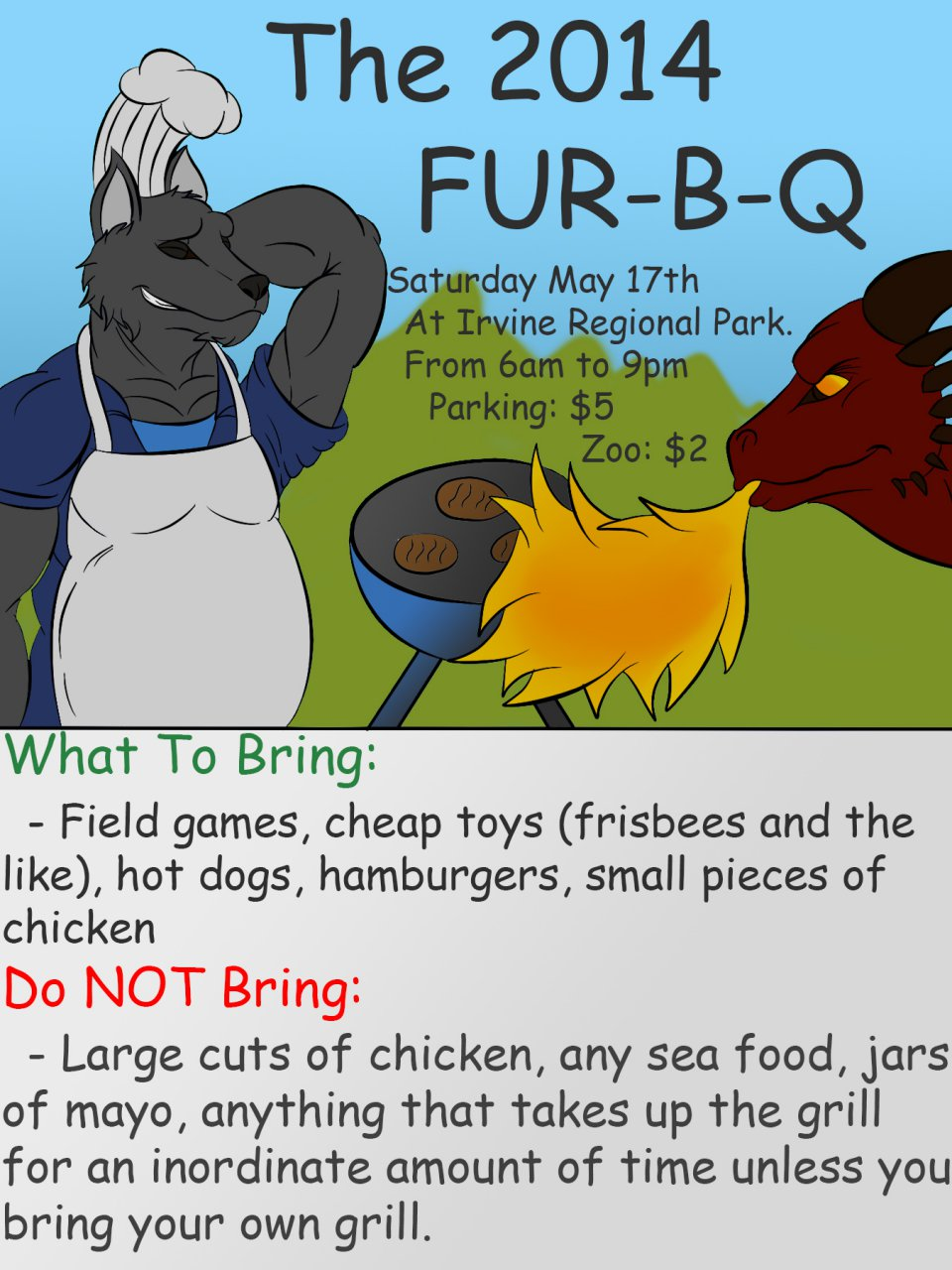 2014 FurBQ Poster by Incredible Crocodile