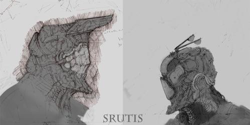 Scanned helmet sketches