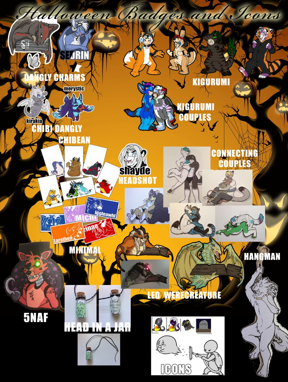 PREORDERS FOR FURPOC and UTACON (HALLOWEEN CONS)