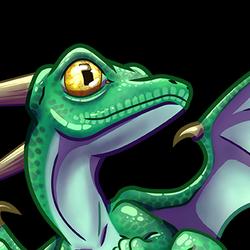 Green little dragon