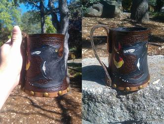 Tooled Leather Tankard