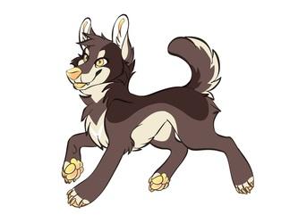 Macchiato Coyote's Feral Form By Ikanamay