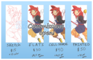 Reminder Commissions Are Open