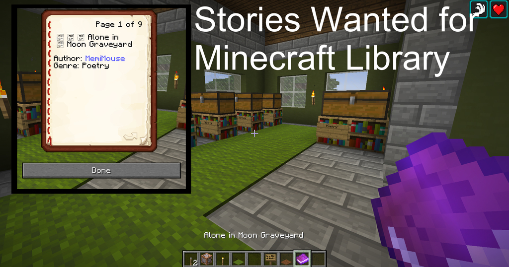 Featured image: Short Stories Wanted for MINECRAFT LIBRARY