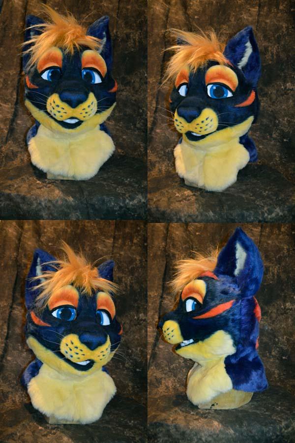 Stripey Cat Partial Head