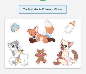 Babyfur Sticker Sheet