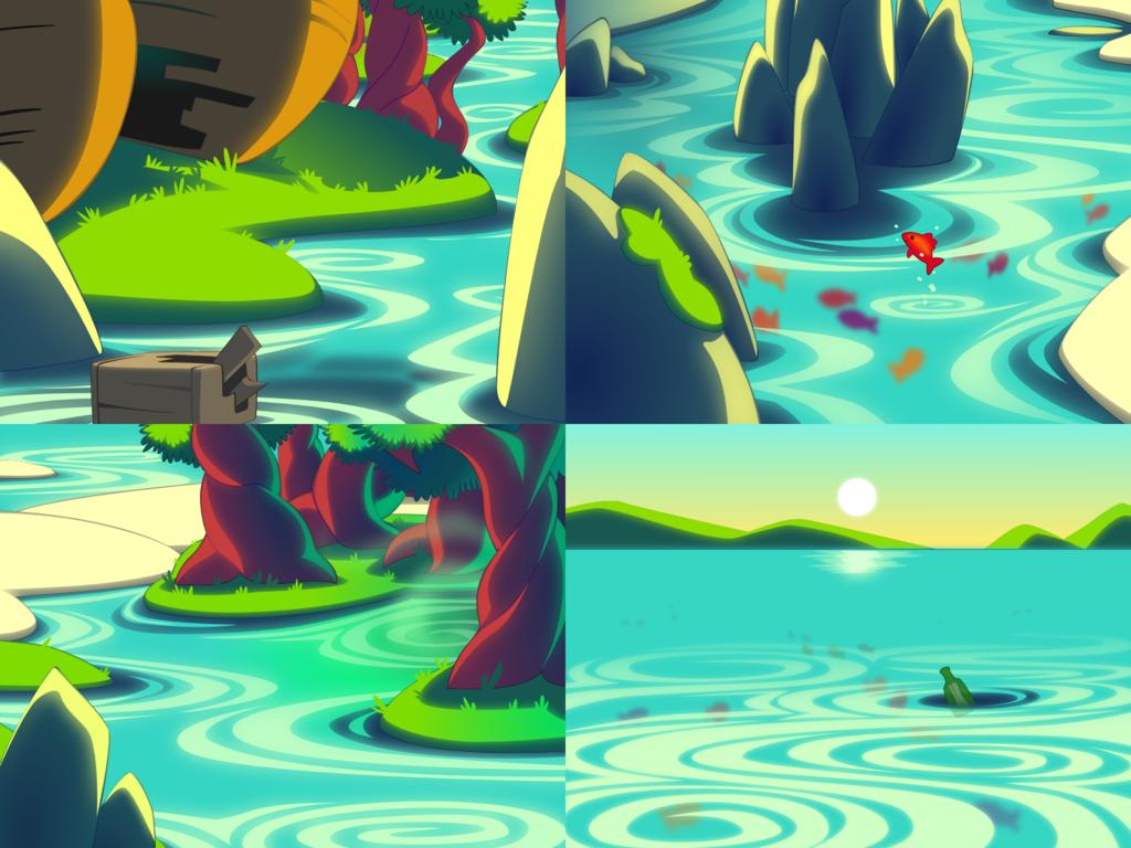 Bottle World: Explore - Sailing the River