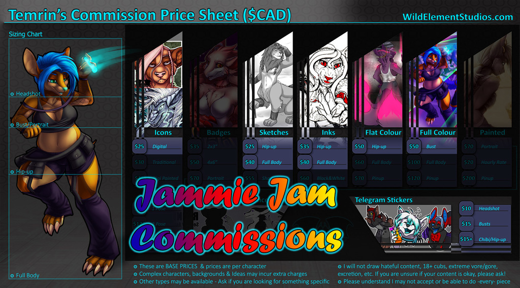 Jammie Jam Commissions OPEN!