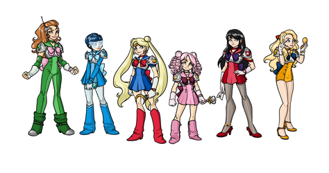 Sailor Moon Redesigns :Inner Senshi: