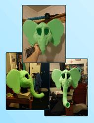White Elephant Fursuit Head WIP - Finished Base!