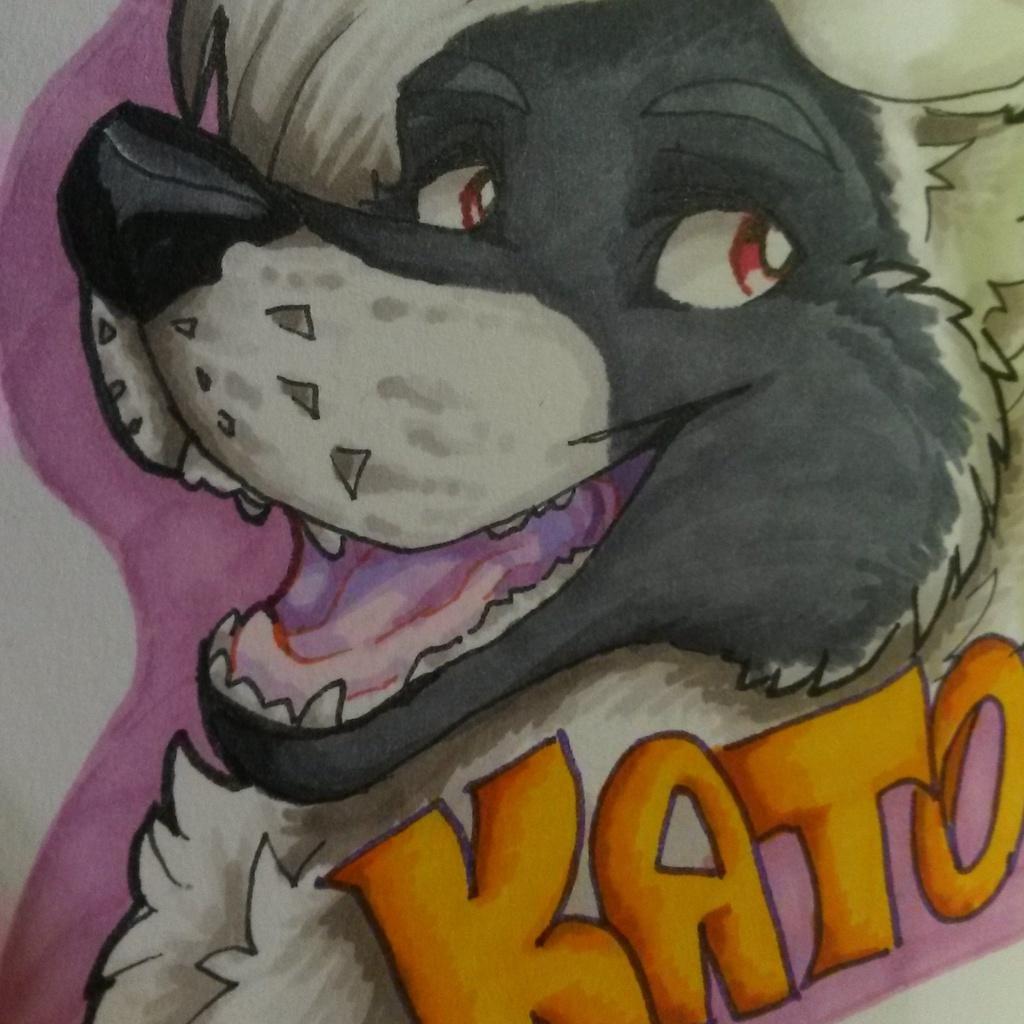 Most recent image: Kato fursuit Badge