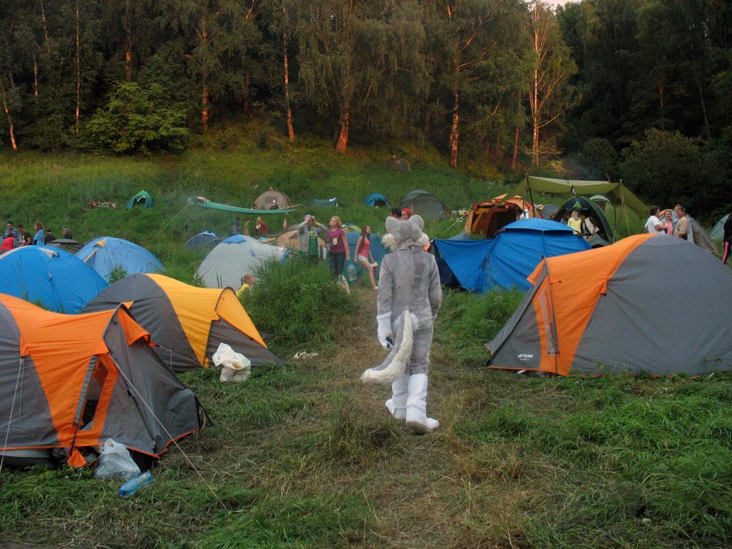 Festival camp evening