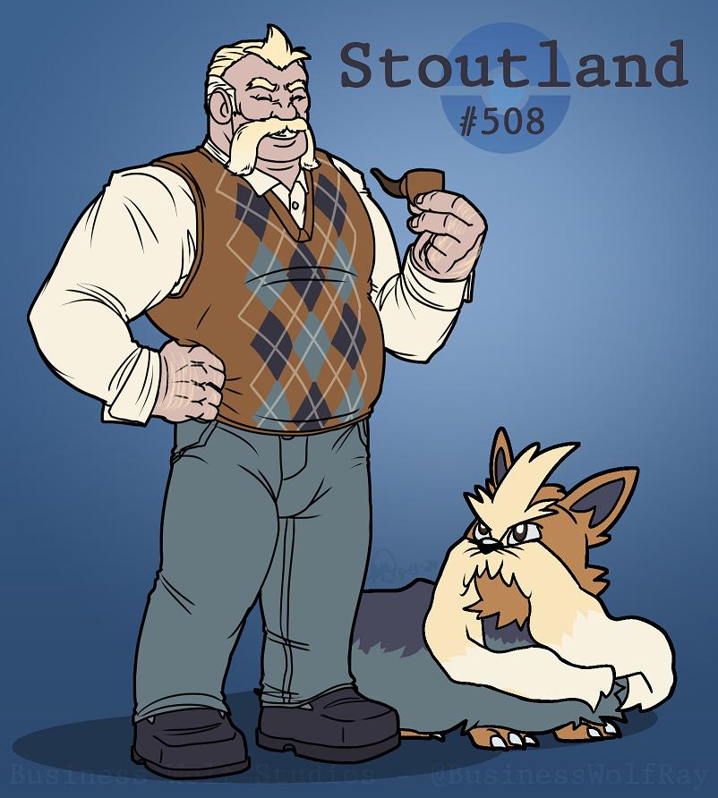 Stoutland Gijinka