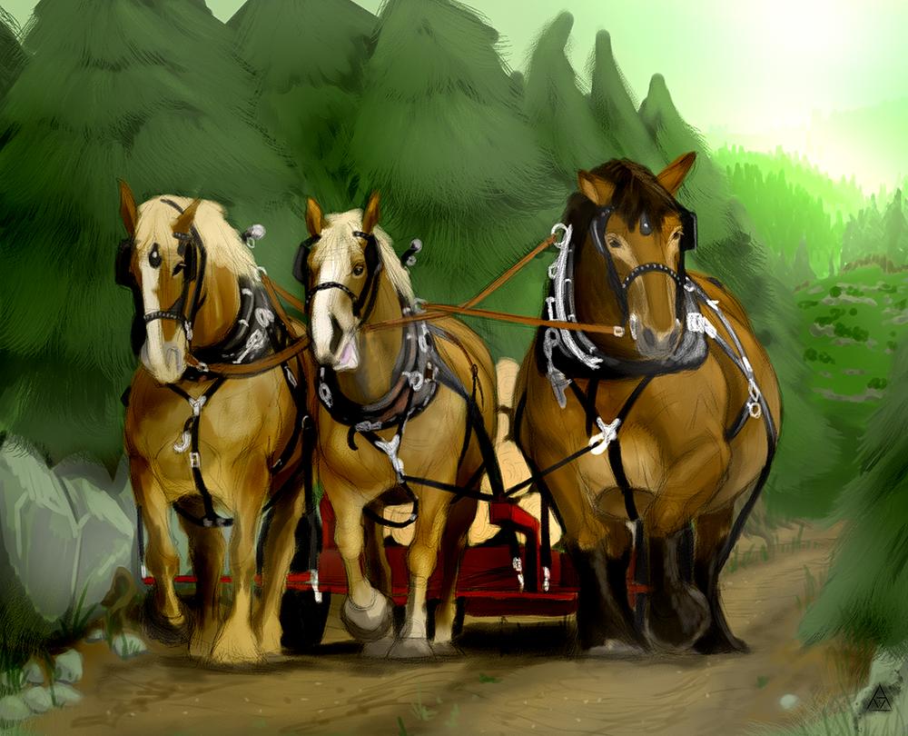 Pulling Horses