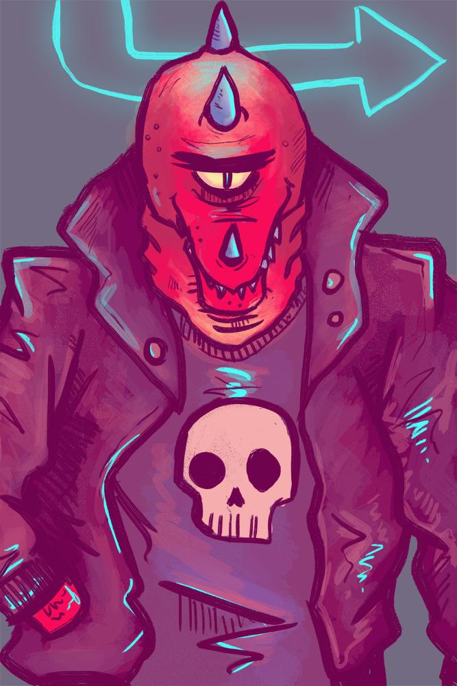 cyberqwerty - trade pt 2 - neon monster