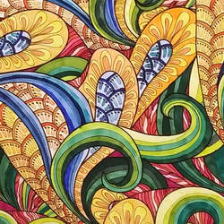 Adult coloring book - abstract