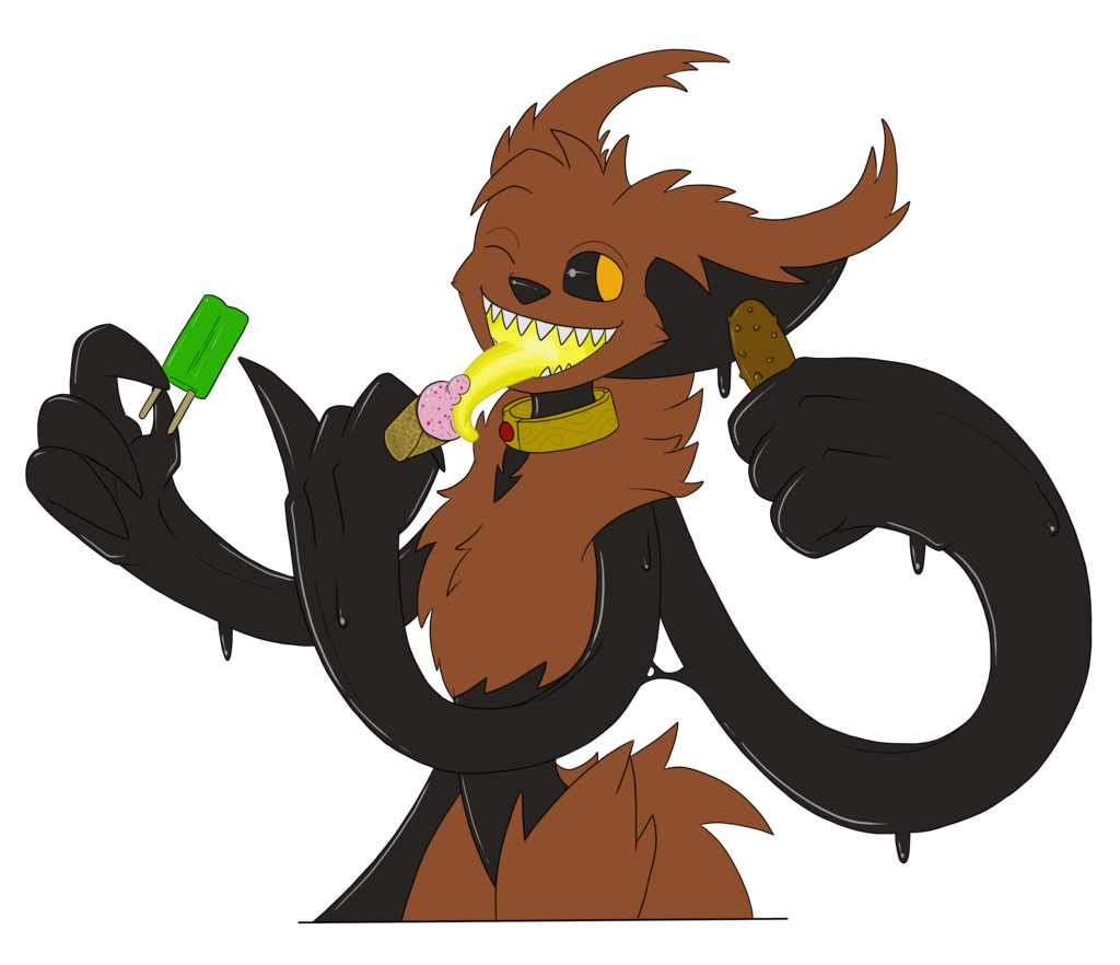 Fiddif enjoying some icecream