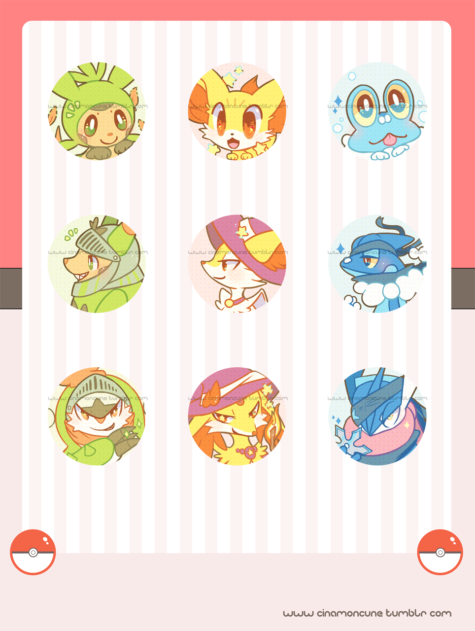 Kalos Starters Buttons