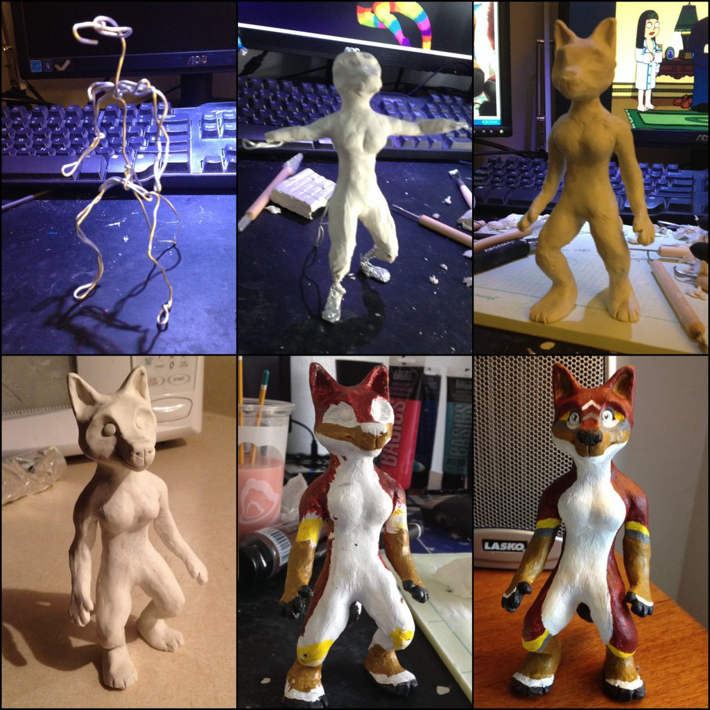Corgii Sculpture Progression