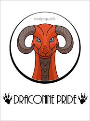 Draconine Pride Badge (Custom)