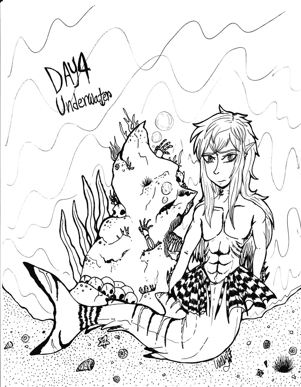 Inktober17 Day 4: Underwater
