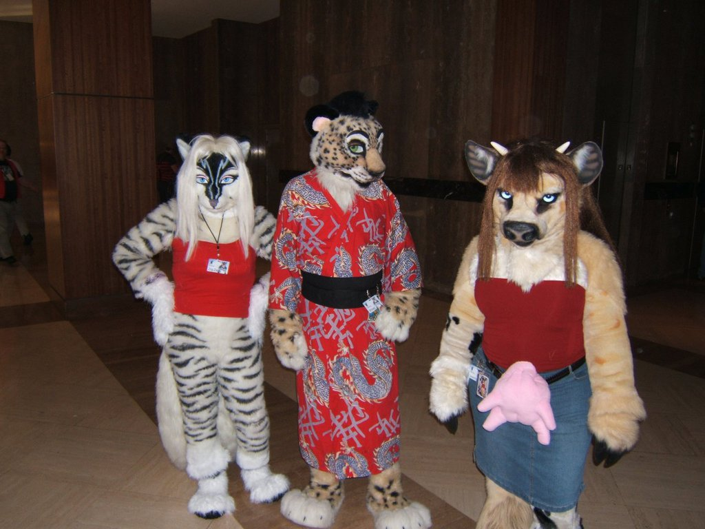 Furry Fiesta 2014 - Zig Zag, Shrag, and Rowan