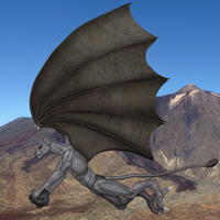(customized creature) Gryzf flying very high.