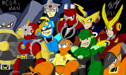 Robot Master Collage (Colored)