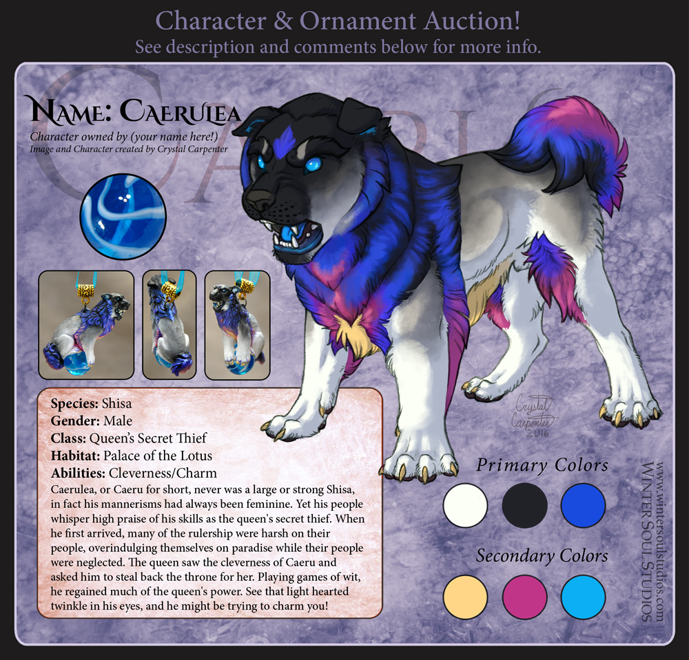 Character Auction - Caerulea - CLOSED