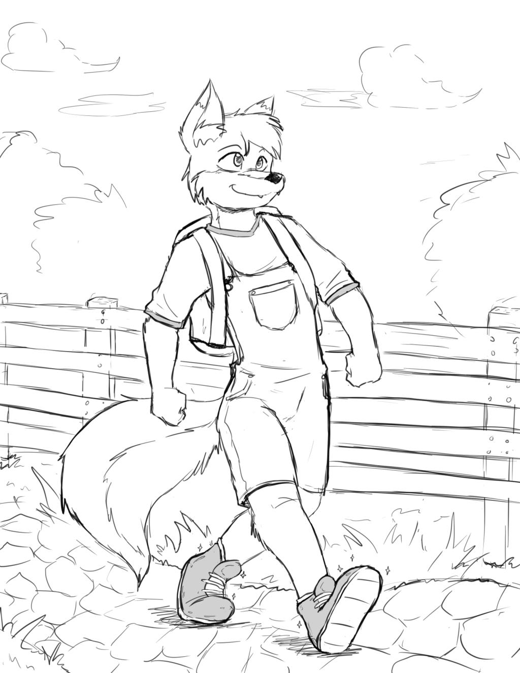 (Commission) - Crisp the Wolf