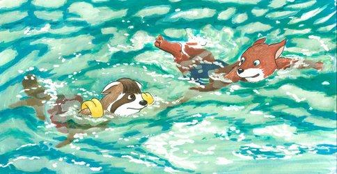 Helping Timothy to Swim