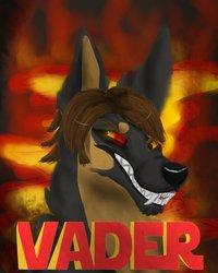 Vader digital painting badge