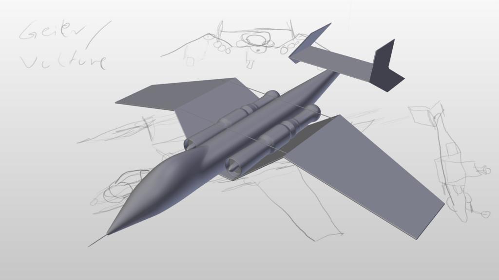 Geier Bodenkampfflugzeug - Vulture Ground Attack