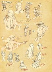 Zelda OC Sketchdump