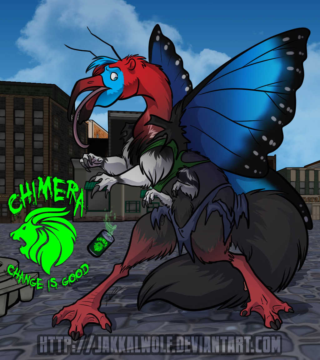 Most recent image: Chimera Cola: ButterFlamanteater